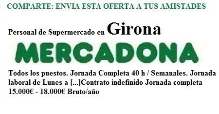Girona, Lanzadera de Empleo Virtual. Oferta Mercadona