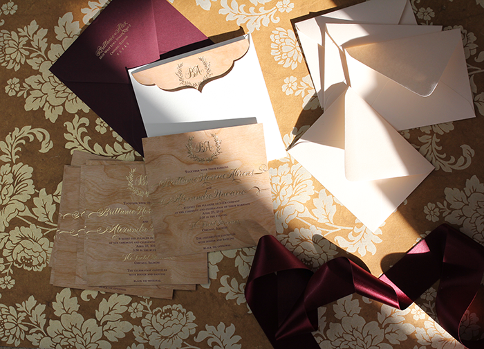 Real Card Studio Wedding Invitaitons with a Romantic Color – Studio Cards Wedding Invitations