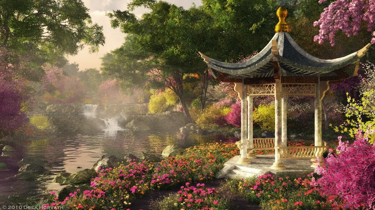 Mon jardin fleuri: Peintures de Kinkade thomas
