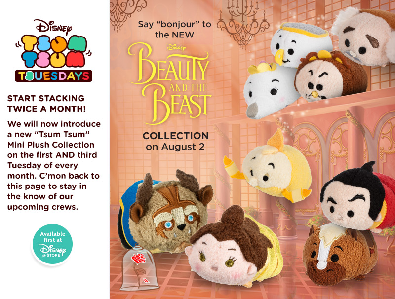 9e91b4e98f9 The latest Tsum Tsum collection features characters from Beauty and the  Beast