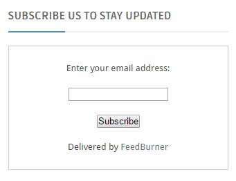 How to Add FeedBurner Email Subscription to your blog step5