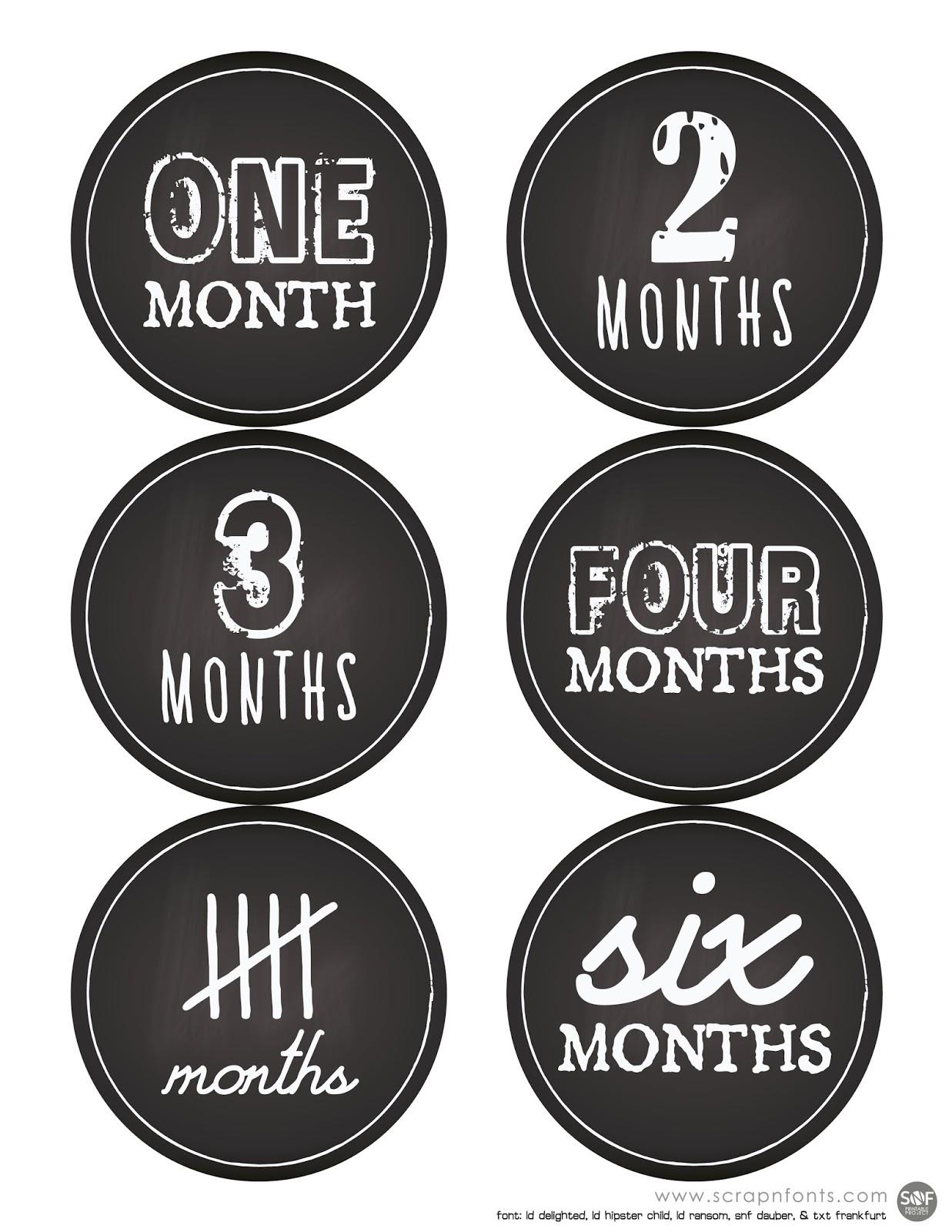 Fontaholic Freebie Friday Babies First Year Sticker Labels