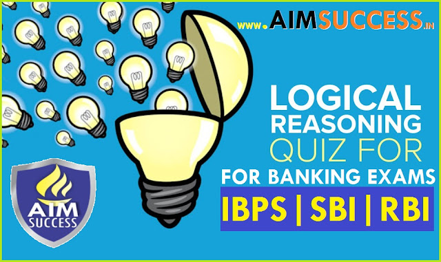 Reasoning MCQ for SBI Clerk Prelims 2018: 25 June
