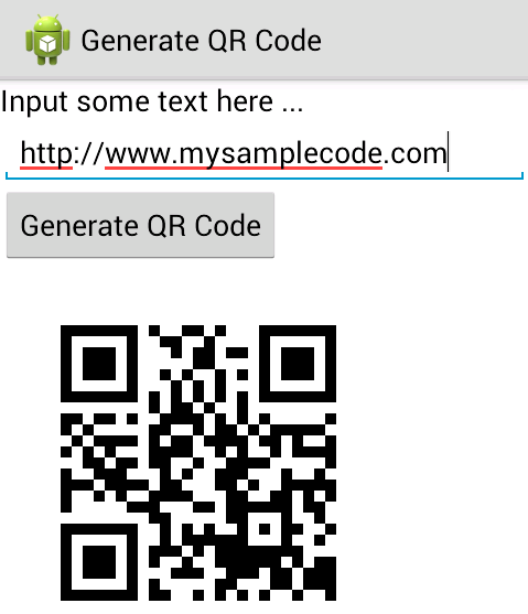 Android qr code scanner app tutorial using zxing library