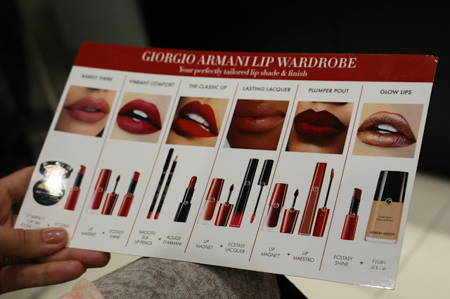 Giorgio armani lip wardrobe