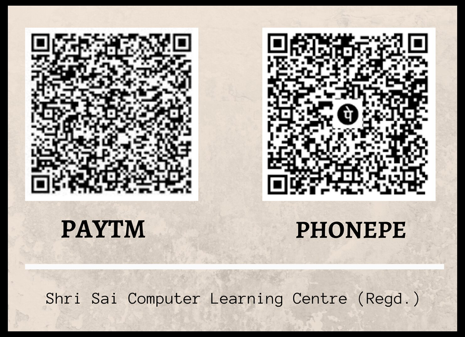 Paytm / PhonePe QR Code of Our Institute