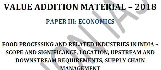 Material 2018 for Paper 3 of Economics