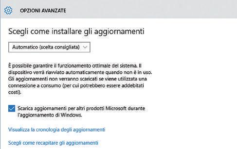 Nuove impostazioni di sicurezza Windows 10