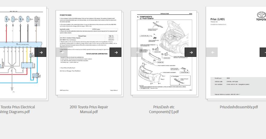 Toyota Pius 2010 Repair Manual Automotive Diagnostic border=