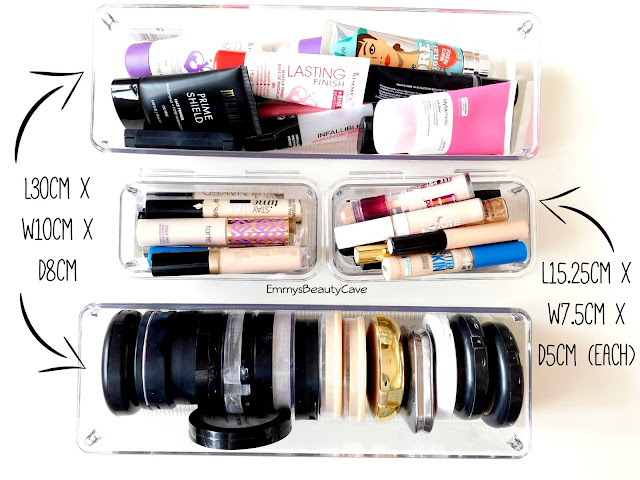 Alex Drawer Organisers, Makeup Storage Ideas, Linus Drawer Organisers