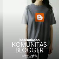 Sablon Kaos Komunitas Blogger - Kaos Blogger