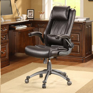 Whalen Office Chairs Whalen Flip Up Arm Leather Office Chair Review