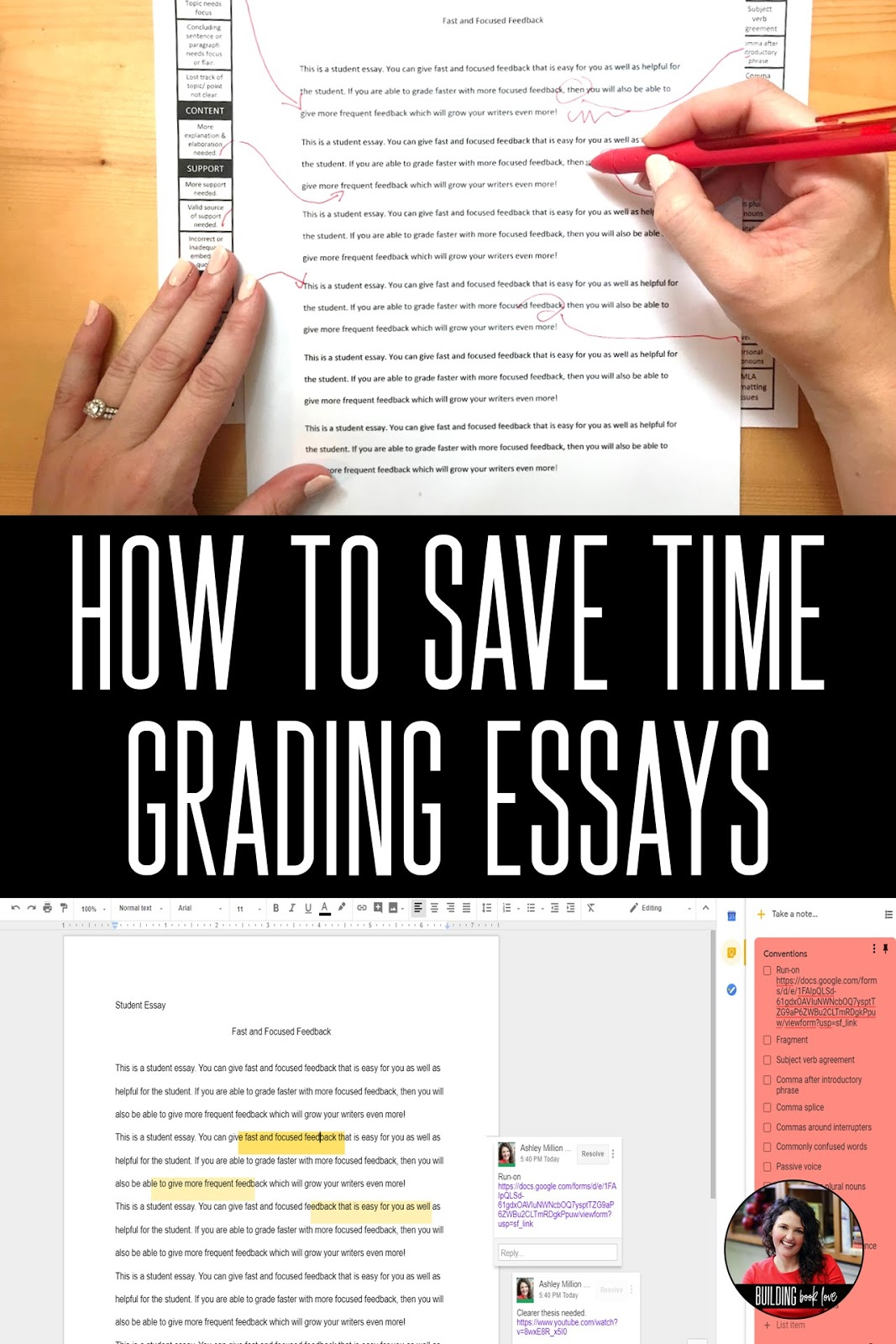 Argument Essay Paper Outline  Essay Grading Tips For Grading Essays Faster And More Efficiently Save  Time Grading Essays Online Or In Print Protein Synthesis Essay also Essay Writings In English Building Book Love   Essay Grading Tips For Grading Essays Faster  Science And Technology Essays