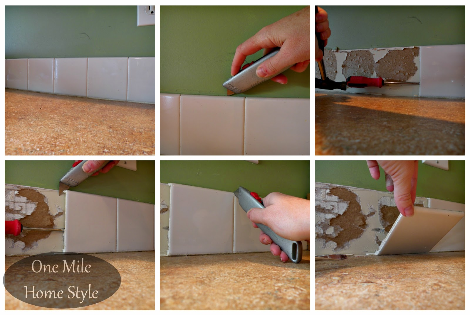 How to remove a builder basic backsplash
