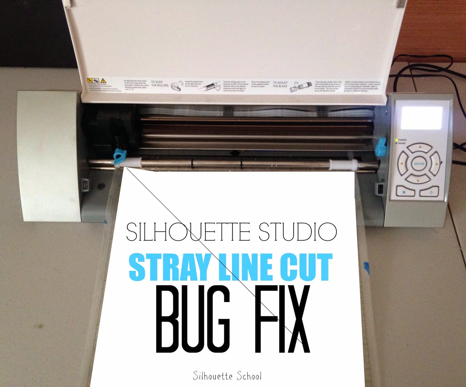 Silhouette Studio, diagonal stray cut, fix