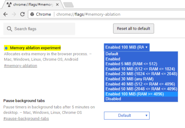Chrome Flags - Speedup Browser Process