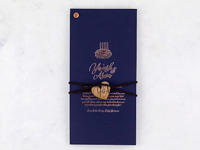 K'Mich Weddings - wedding planning - tanzanite invitation -