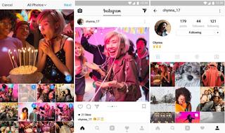 انستغرام تطرح ميزة تسمح للمستخدمين بإدراج صور متعددة في منشور واحد