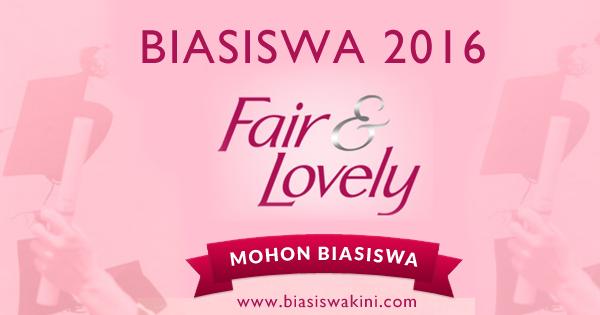 Biasiswa Fair & Lovely 2016 Tajaan Unilever Malaysia