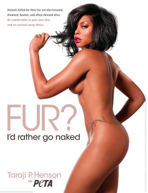 Taraji P. Henson goes nude for PETA