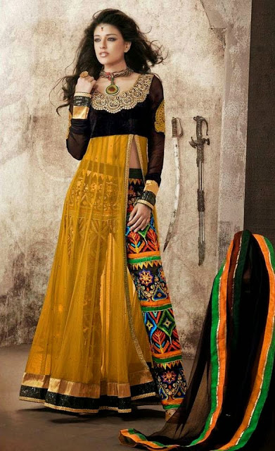 Buy Embroidery Salwar | Net Anarkali Suit