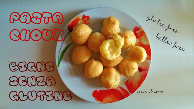 recipe choux gluten free - butter free - lactose free