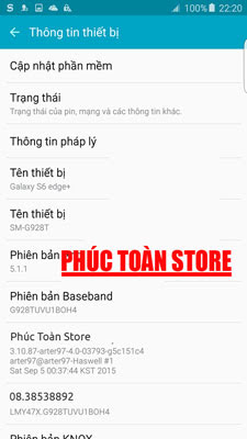 Tiếng Việt Samsung S6 G928T alt