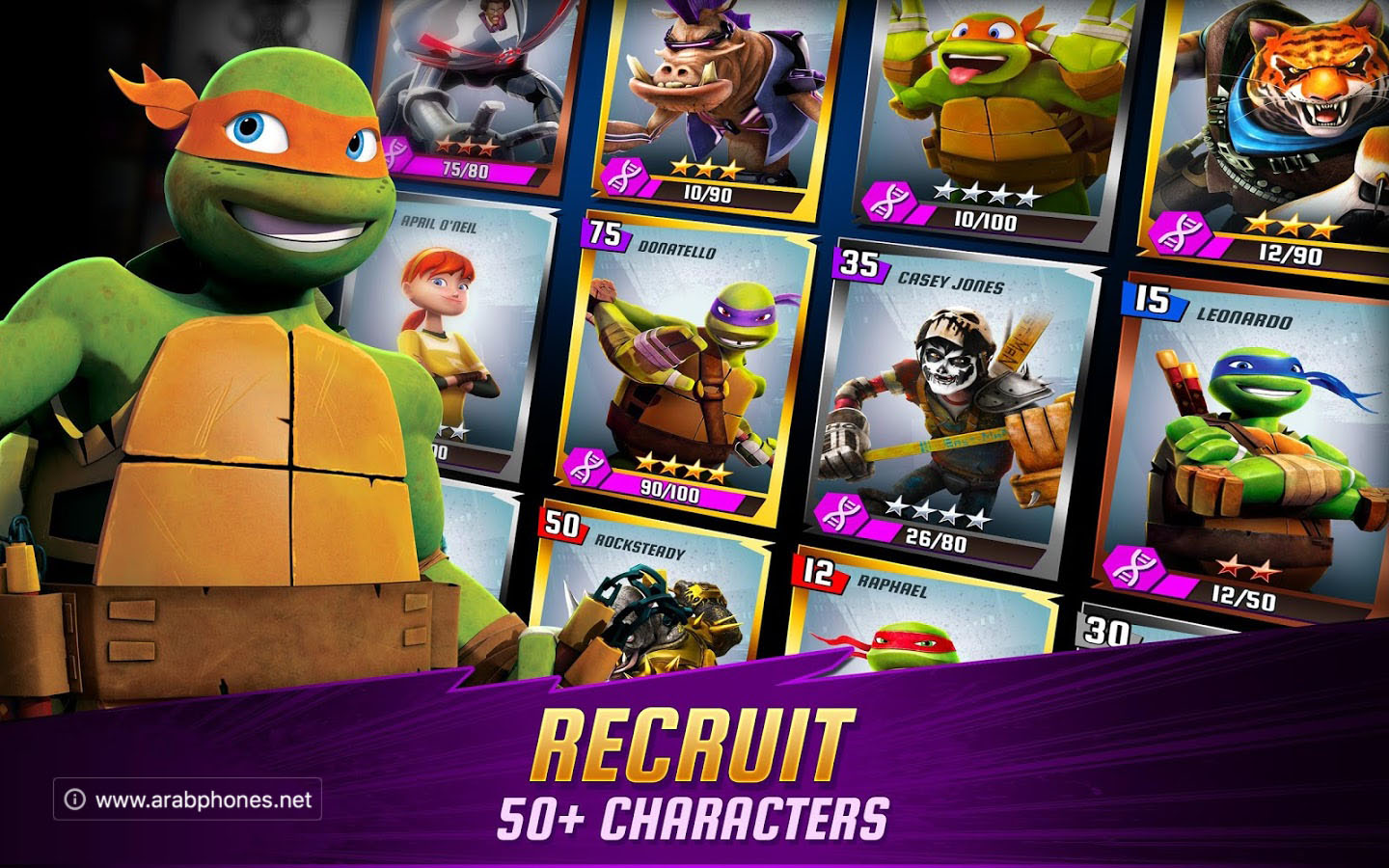 تحميل لعبة ninja turtles legends مهكرة