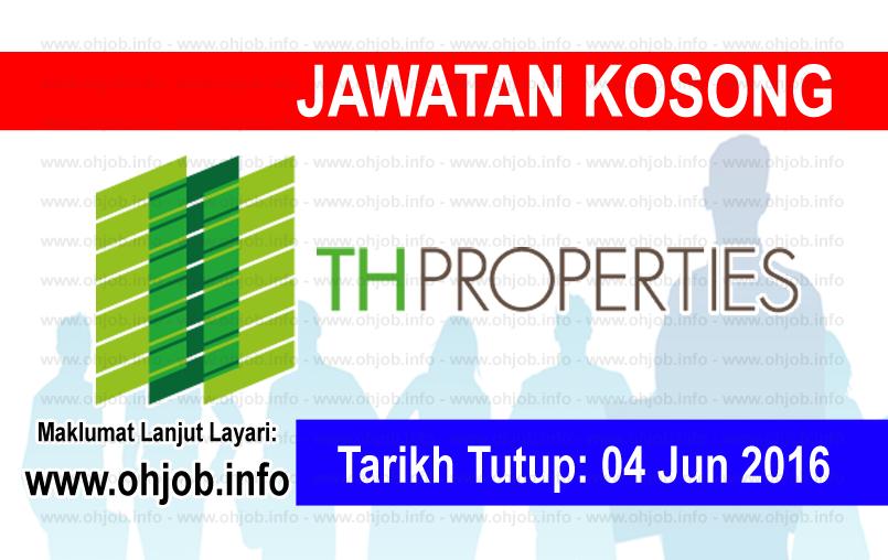 Jawatan Kerja Kosong Tabung Haji Properties (TH) logo www.ohjob.info jun 2016