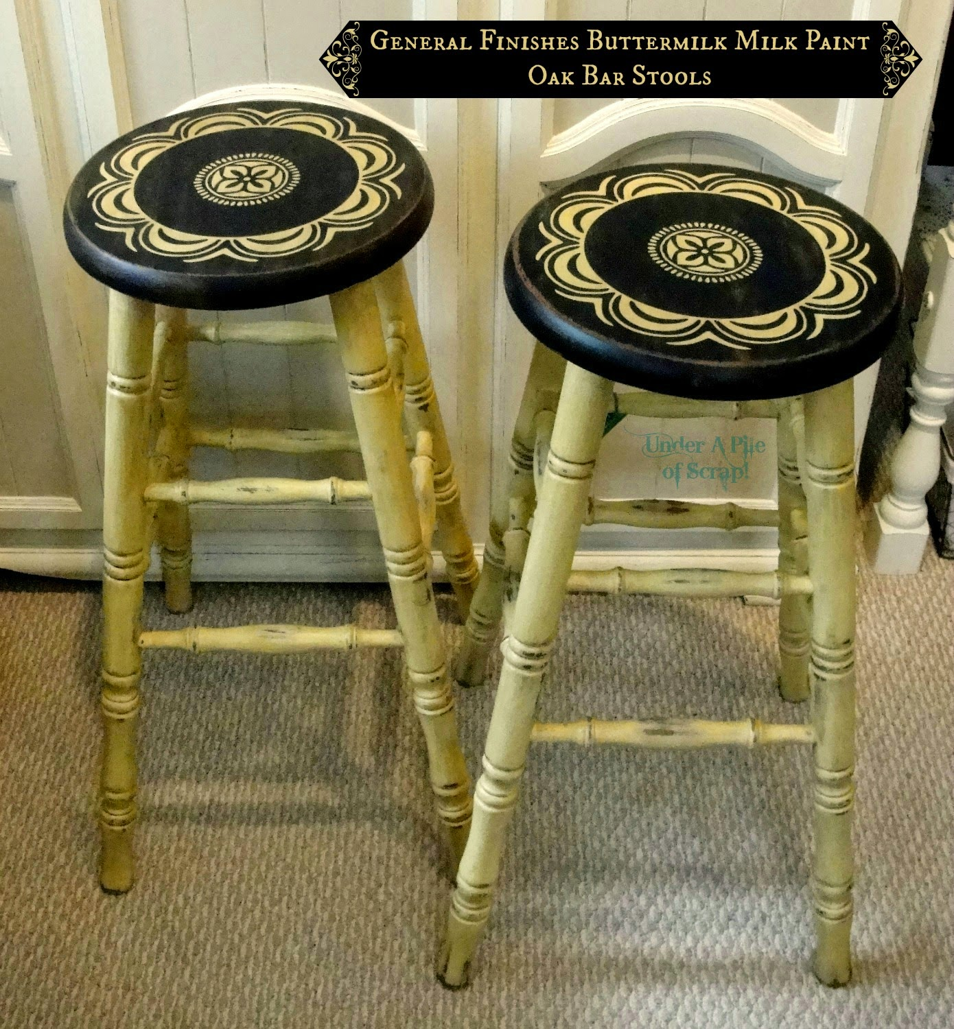 room decor, Farmhouse styles, bar stools, milk paint, rustic, shabby, diy, painted furniture, home decor