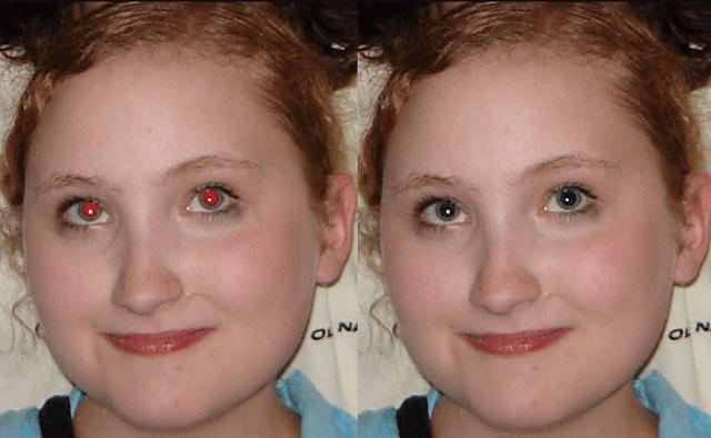 Fotoğraflarda gözlerin kırmızı görünmesi
