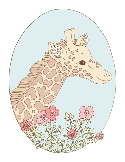 Emma Margaret Illustration Giraffe 2016