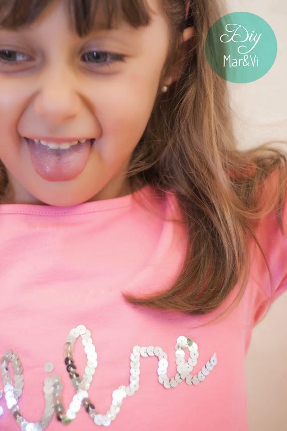 DIY Camisetas decoradas con lentejuelas