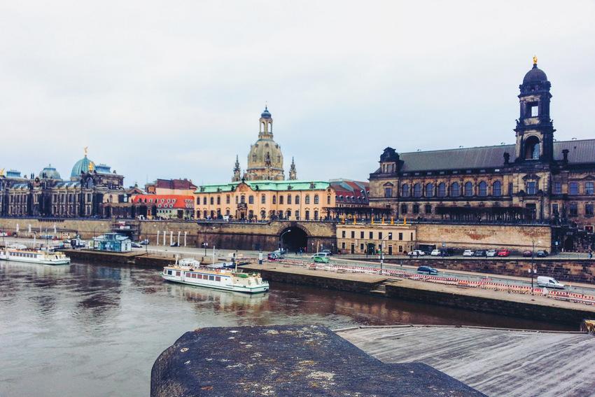 Drezno Dresden Most Augusta