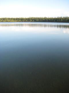 Photo of a small northern lake