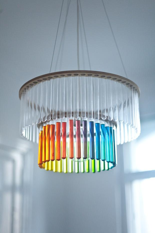Tube Chandelier by Polish Designer