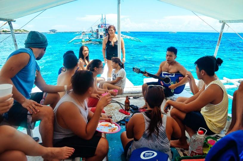 Island Hopping friends philippines cebu birthday jam session