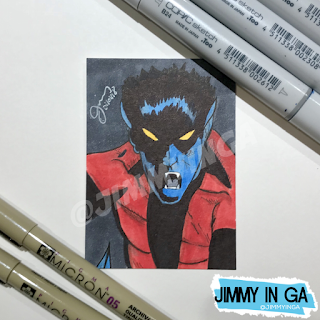 "Night Crawler - Copic Markers on 2.5"" x 3.5"" Sketch Card"