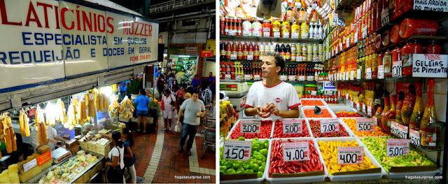 Especialidades mineiras do Mercado Central de Belo Horizonte