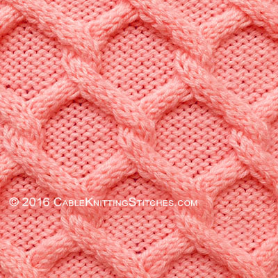 Diamonds Cable Knitting Stitches
