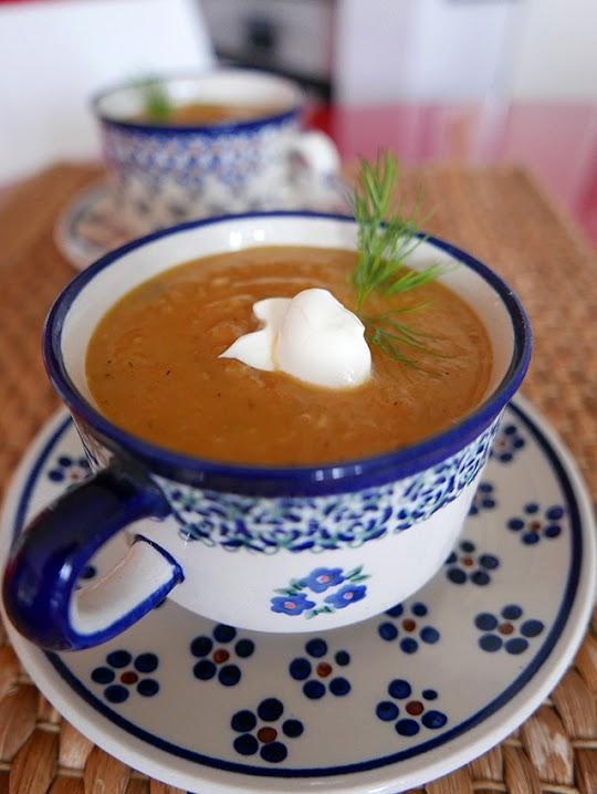 Zupa krem z pieczonych warzyw korzeniowych