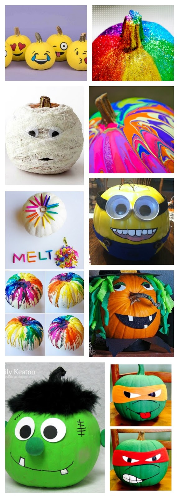 25+ no-carve pumpkin decorating ideas for kids.  Tons of ideas I've never seen before! #nocarvepumpkins #nocarvepumpkindecoratingforkids #growingajeweledrose #pumpkindecoratingideasforkids #pumpkindecoratingideasnocarve #kidspumpkincrafts #fallcraftsforkidspreschool #fallactivitiestoddlers