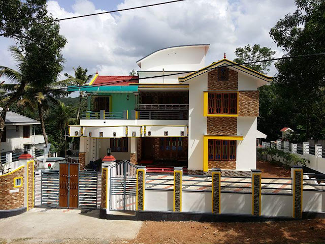 House of Mr.James Mamoottil, Kerala