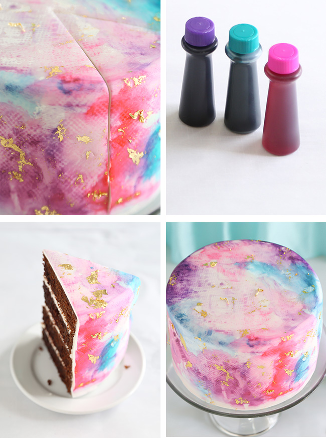 Watercolor Graffiti Chocolate Cake Sprinkle Bakes