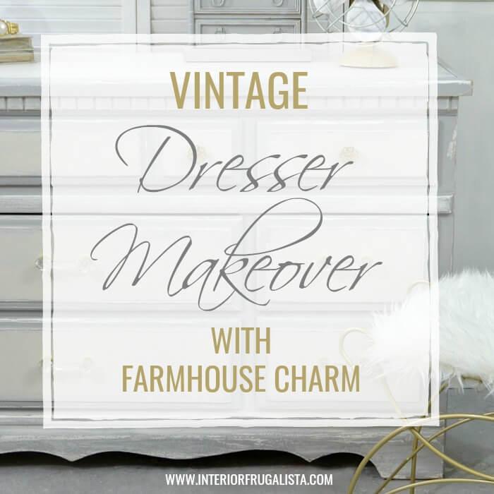 Vintage 9-Drawer Dresser Makeover With Farmhouse Charm