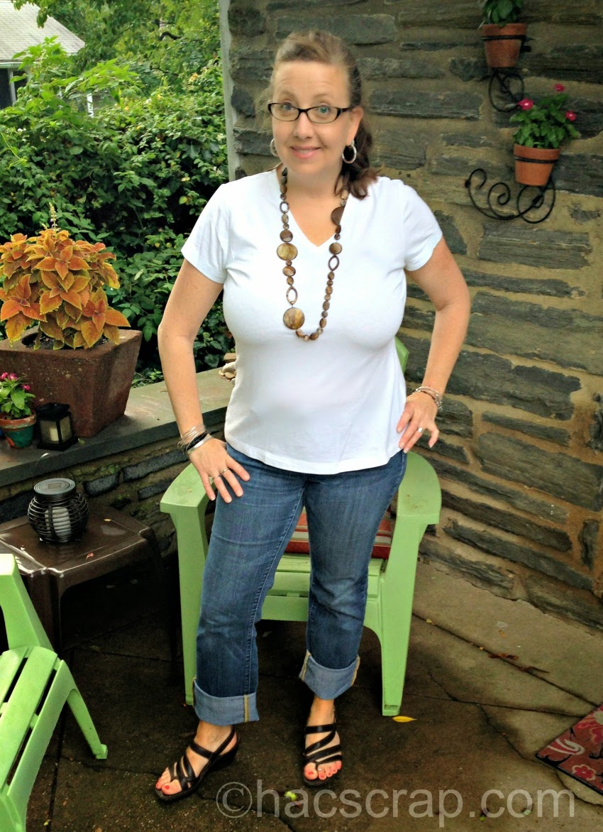 Mid-Life Mom Style - White T Shirt and Jeans