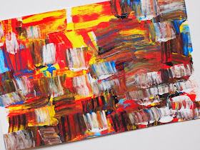 easy abstract art painting with kids