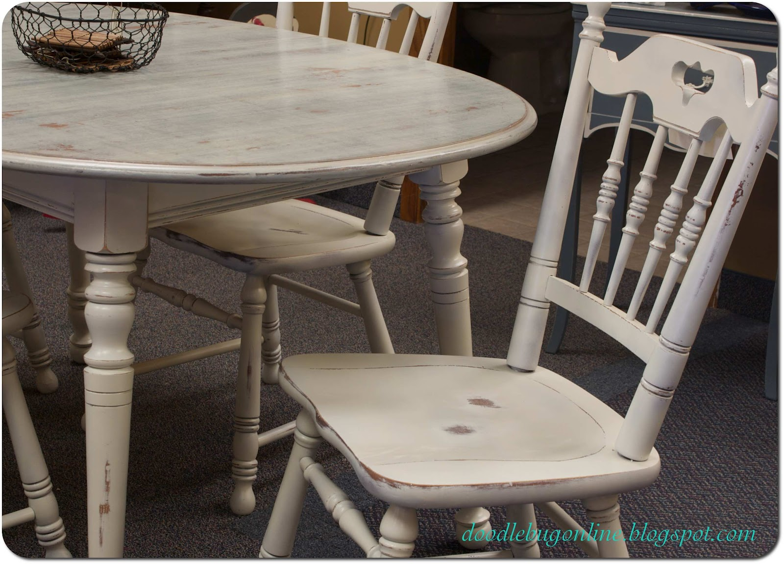 white distressed dining chairs pottery barn on sale doodle bug and grey table