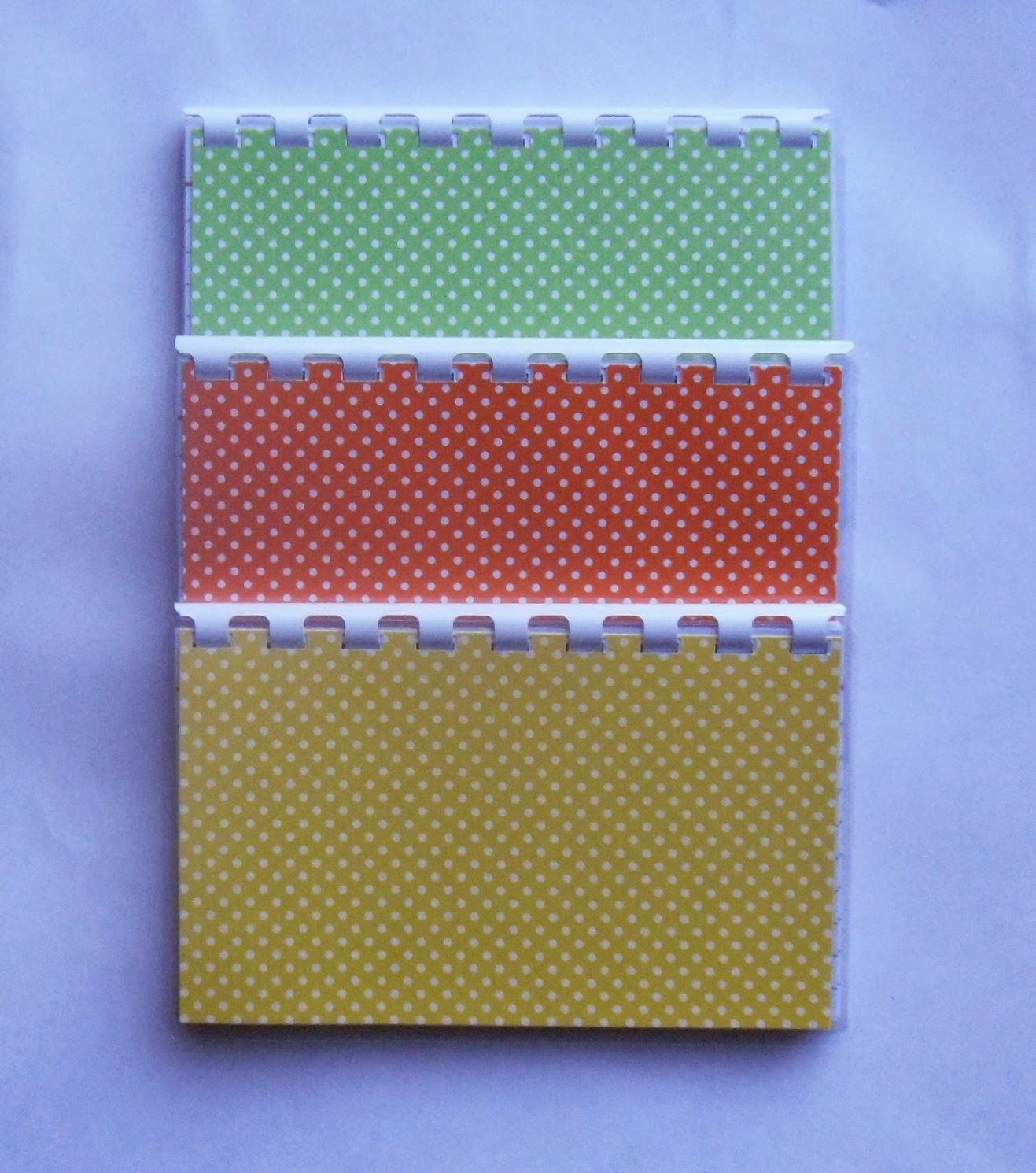 3 handmade green, yellow and orange polka dots blank recipe book?ref=shop_home_active_20