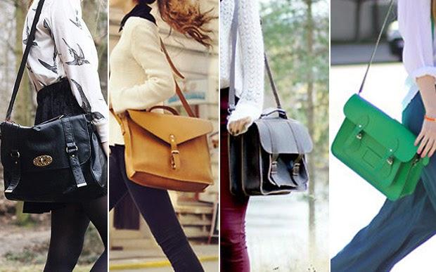 37968b003 A bolsa-saco é tendência fortíssima e fica ótima na escola. Aviso às  bagunceiras: por causa do formato, ela não costuma ter divisórias.